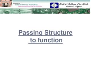 Passing Structure  to function