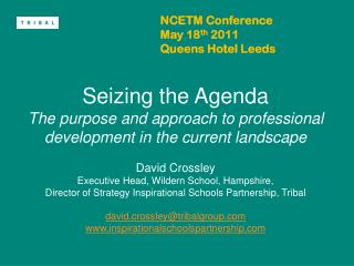 NCETM Conference May 18 th  2011  Queens Hotel Leeds