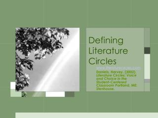 Defining Literature Circles