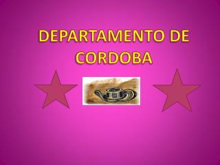 DEPARTAMENTO DE CORDOBA