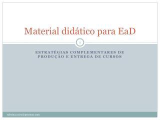 Material didático para EaD