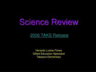 2006 TAKS Release