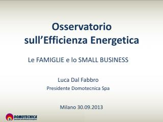 Osservatorio  sull�Efficienza Energetica