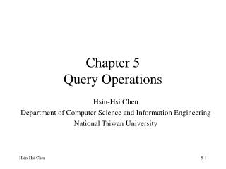 Chapter 5 Query Operations