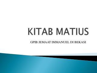 KITAB MATIUS