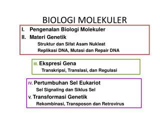 BIOLOGI MOLEKULER