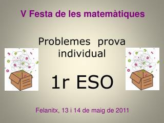 Problemes  prova individual