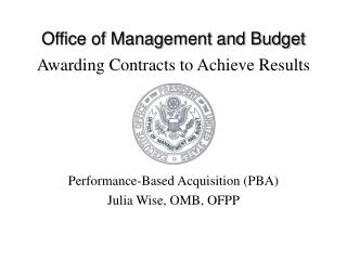 Awarding Contracts to Achieve Results