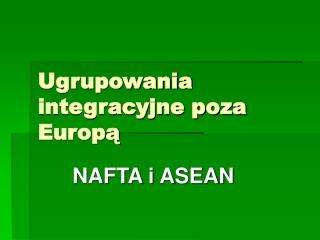 Ugrupowania integracyjne poza Europą