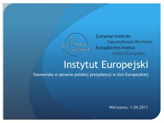 Instytut Europejski