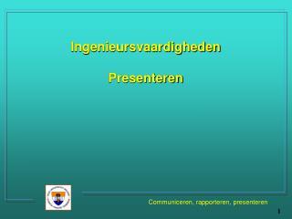 Ingenieursvaardigheden Presenteren