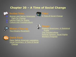 Chapter 20   A Time of Social Change