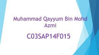 Muhammad  Qayyum  Bin  Mohd Azmi