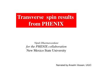 Transverse  spin results  from PHENIX