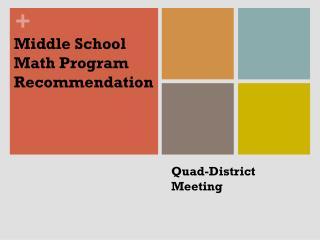 Quad-District Meeting