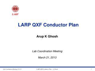 LARP QXF Conductor Plan