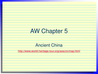 AW Chapter 5