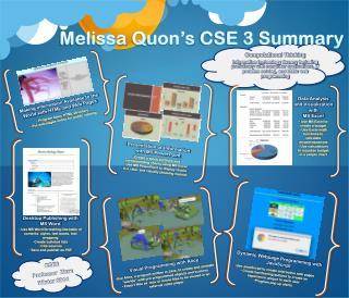 Melissa  Quon's  CSE 3 Summary