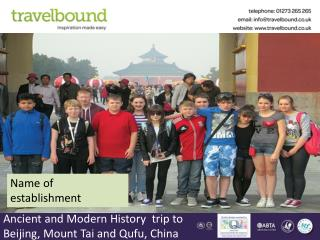 Ancient and Modern History  trip to Beijing, Mount Tai and Qufu, China