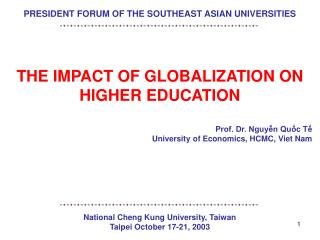 PRESIDENT FORUM OF THE SOUTHEAST ASIAN UNIVERSITIES