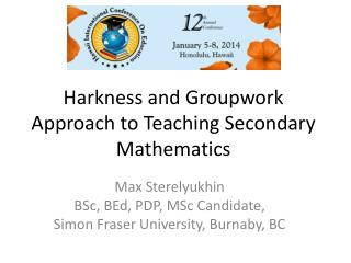 Harkness and Groupwork Approach to Teaching Secondary Mathematics