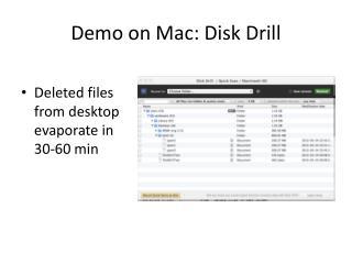 Demo on Mac: Disk Drill