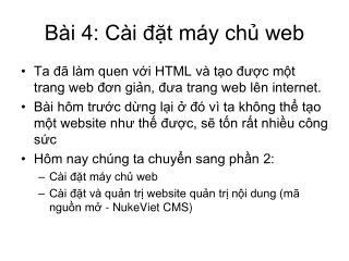 Bài 4: Cài đặt máy chủ web