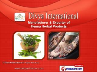 Herbal Henna  & Mix  Amla Powder