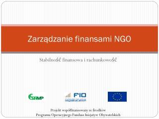 Zarządzanie finansami NGO