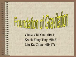 Chow Chi Yan   6B(4)   Kwok Fong Ting  6B(8)  Liu Ka Chun   6B(17)