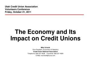 Utah Credit Union Association Volunteers Conference Friday, October 21, 2011