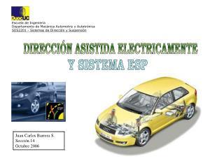 Escuela de Ingenier a Departamento de Mec nica Automotriz y Autotr nica SDS2201 - Sistemas de Direcci n y Suspensi n