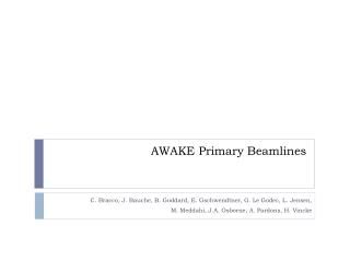 AWAKE Primary  Beamlines