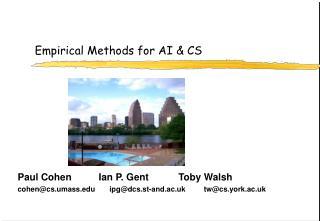 Empirical Methods for AI & CS