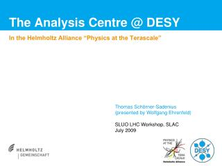The Analysis Centre @ DESY