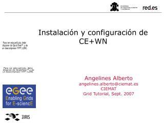 Instalación y configuración de CE+WN
