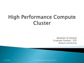 High Performance Compute Cluster