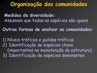 Organização das comunidades