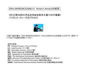ENV/JM/MONO(2006)12 Annex1,Annex2 ???