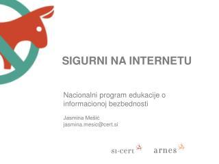 Nacionalni  program  edukacije  o  informacionoj bezbednosti Jasmina Mešić