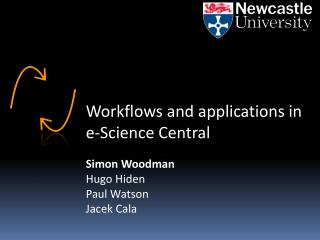 Workflows and applications in e-Science Central