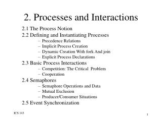 2. Processes and Interactions