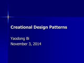 Creation al Design Patterns