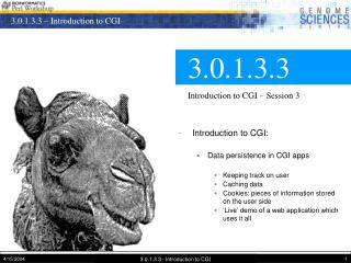 3.0.1.3.3 Introduction to CGI – Session 3
