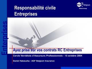 Responsabilit  civile Entreprises