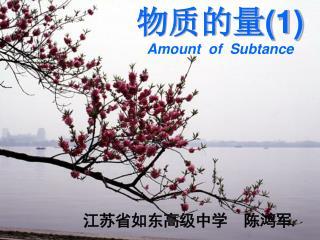 物质的量 (1) Amount  of  Subtance