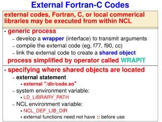 External Fortran-C Codes