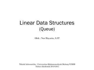 Linear Data Structures (Queue)