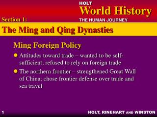 Ming Foreign Policy