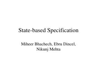State-based Specification